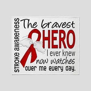D Stroke Bravest Hero I Ever Knew Throw Blanket