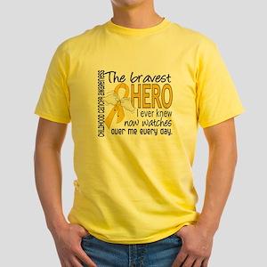 D Childhood Cancer Bravest Hero I E Yellow T-Shirt