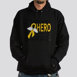 D Childhood Cancer Bravest Hero I Ev Hoodie (dark)