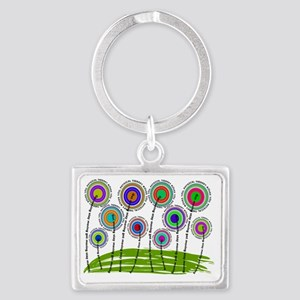 PT flowers finished 2 Landscape Keychain