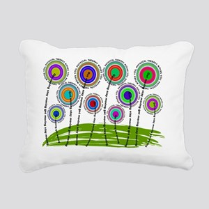 PT flowers finished 2 Rectangular Canvas Pillow