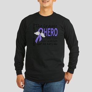 D Esophageal Cancer Brave Long Sleeve Dark T-Shirt