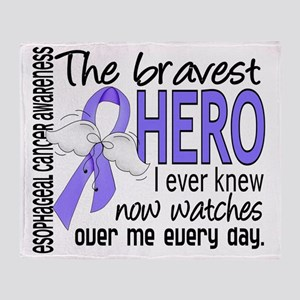 D Esophageal Cancer Bravest Hero I E Throw Blanket