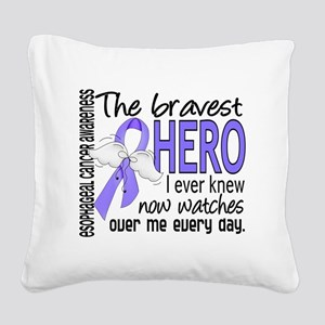 D Esophageal Cancer Bravest H Square Canvas Pillow