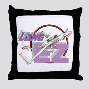 LONG EZ Throw Pillow