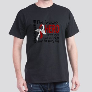 D Oral Cancer Bravest Hero I Ever Kne Dark T-Shirt
