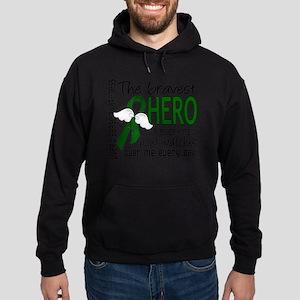 D Liver Disease Bravest Hero I Ever  Hoodie (dark)