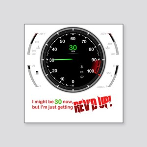 "speedometer-30 Square Sticker 3"" x 3"""