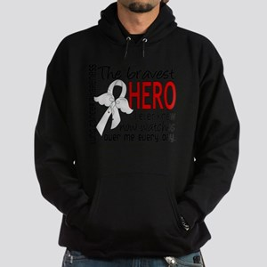 D Lung Cancer Bravest Hero I Ever Kn Hoodie (dark)