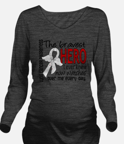 D Lung Cancer Braves Long Sleeve Maternity T-Shirt