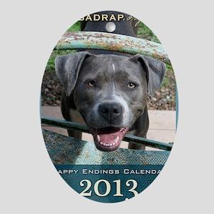 Happy Endings Calendar Cover Oval Ornament