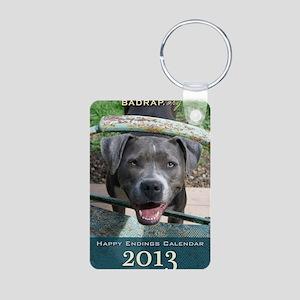 Happy Endings Calendar Cov Aluminum Photo Keychain