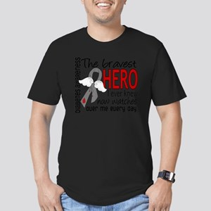 D Diabetes Bravest Her Men's Fitted T-Shirt (dark)