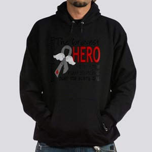 D Diabetes Bravest Hero I Ever Knew Hoodie (dark)