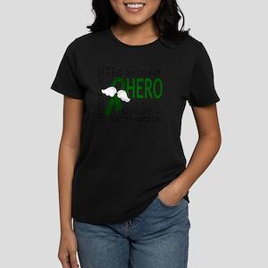 D Liver Cancer Bravest Hero I Women's Dark T-Shirt