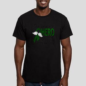 D Liver Cancer Bravest Men's Fitted T-Shirt (dark)