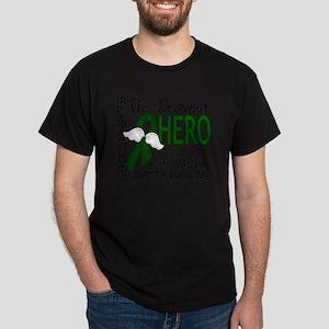 D Liver Cancer Bravest Hero I Ever Kn Dark T-Shirt