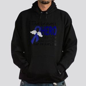 D Colon Cancer Bravest Hero I Ever K Hoodie (dark)