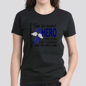 D Colon Cancer Bravest Hero I Women's Dark T-Shirt