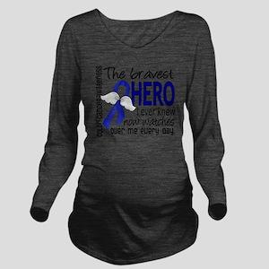 D Colon Cancer Brave Long Sleeve Maternity T-Shirt