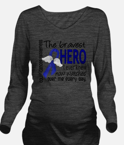D Colon Cancer Brave Long Sleeve Maternity T-Shirt