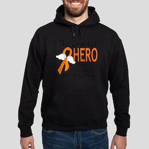 D Kidney Cancer Bravest Hero I Ever  Hoodie (dark)