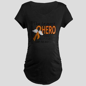 D Kidney Cancer Bravest Her Maternity Dark T-Shirt