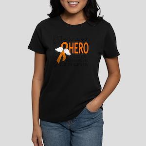 D Kidney Cancer Bravest Hero  Women's Dark T-Shirt