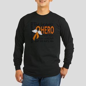 D Kidney Cancer Bravest H Long Sleeve Dark T-Shirt