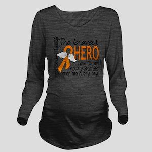 D Kidney Cancer Brav Long Sleeve Maternity T-Shirt