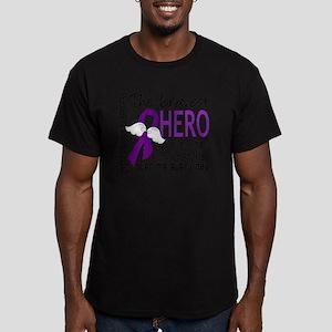 D Cystic Fibrosis Brav Men's Fitted T-Shirt (dark)