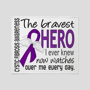 D Cystic Fibrosis Bravest Hero I Eve Throw Blanket