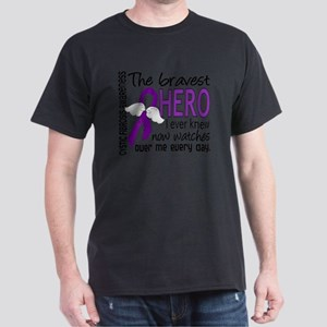 D Cystic Fibrosis Bravest Hero I Ever Dark T-Shirt