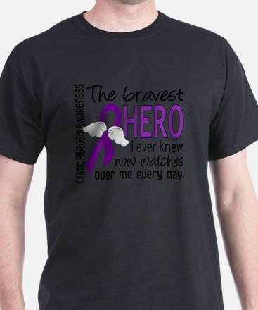 D Cystic Fibrosis Bravest Hero I Ever T-Shirt