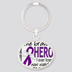 D Cystic Fibrosis Bravest Hero I Eve Oval Keychain