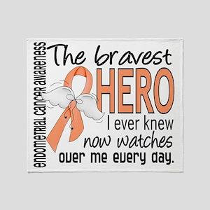 D Endometrial Cancer Bravest Hero I  Throw Blanket