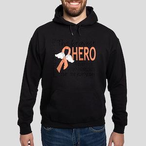 D Endometrial Cancer Bravest Hero I  Hoodie (dark)