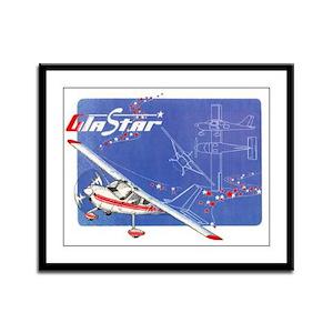 GLASTAR I Framed Panel Print