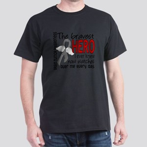 D Brain Tumor Bravest Hero I Ever Kne Dark T-Shirt