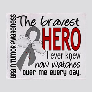 D Brain Tumor Bravest Hero I Ever Kn Throw Blanket