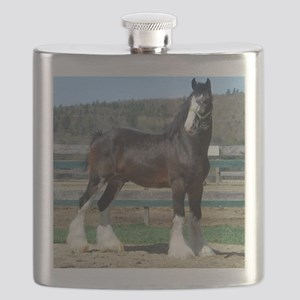 Ruskington Danny, English Shire Stallion Flask