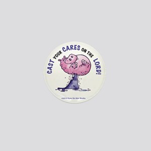 Cast Your Cares On The LORD Mini Button