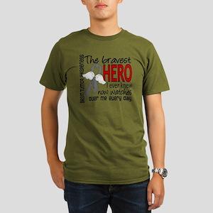 D Brain Tumor Bravest Organic Men's T-Shirt (dark)
