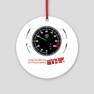 speedometer-40 Round Ornament