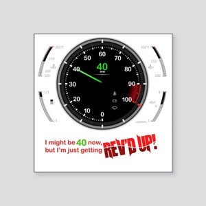 "speedometer-40 Square Sticker 3"" x 3"""