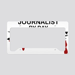 Journalist Zombie License Plate Holder
