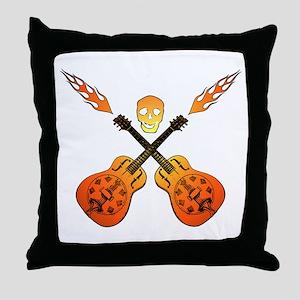 Hot Guitars Throw Pillow