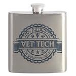 100% Authentic Vet Tech (Blue) Flask