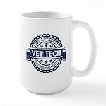 100% Authentic Vet Tech (Blue) Large Mug