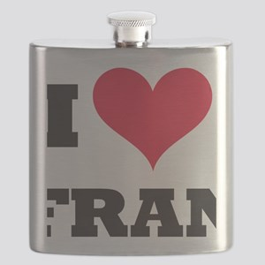 I Love Fran Flask